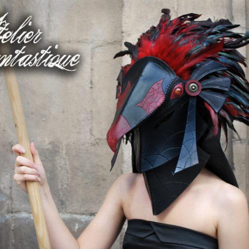 masque-en-cuir-oiseau