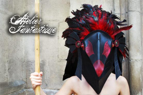 masque-oiseau-en-cuir