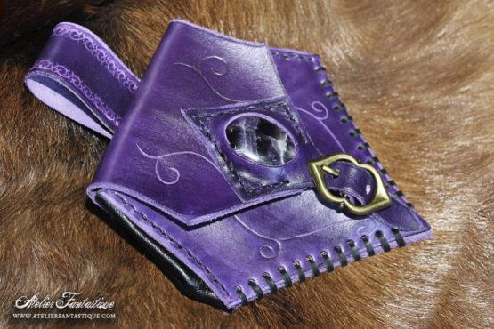 sacoche-cuir-violet