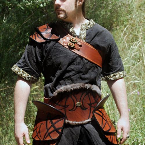 tribal leather armor