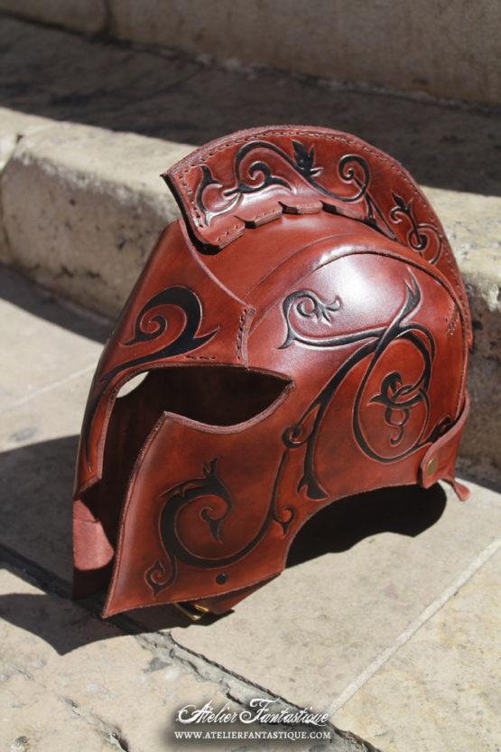 casque-elfique-cuir