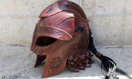casque-viking-en-cuir